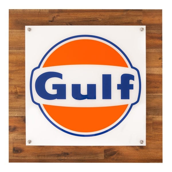 Gulf LED Light on timber backing board